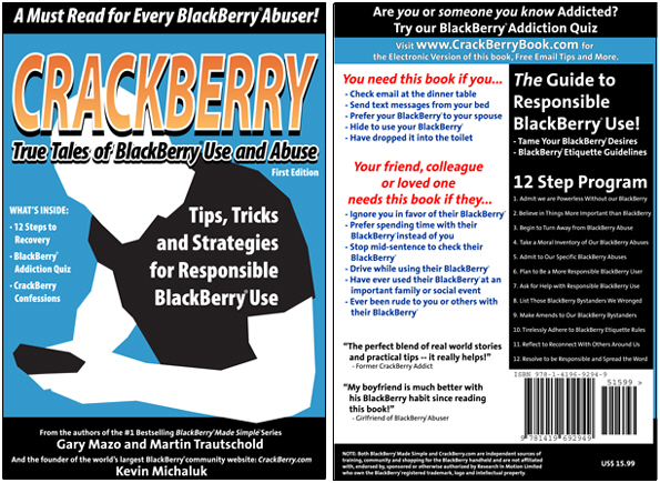 Now Available! CRACKBERRY: True Tales of BlackBerry Use and Abuse!