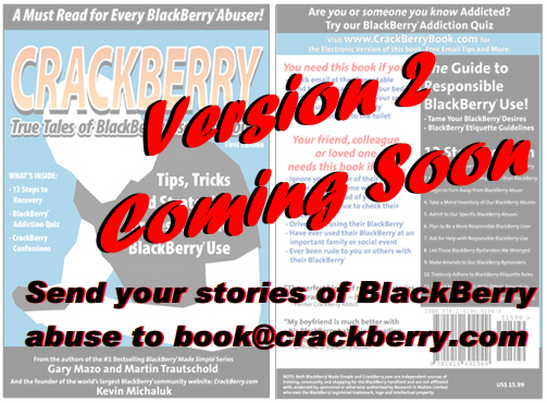 CrackBerry Book version 2 - submit your stories!