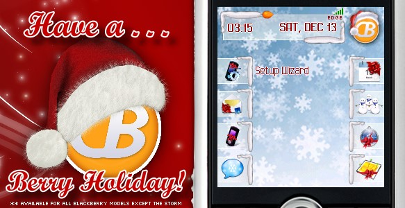 Free CrackBerry.com Holiday BlackBerry Theme!