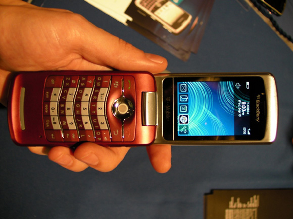 Red T-Mobile BlackBerry Pearl 8220