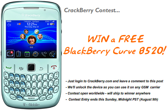 BlackBerry Curve 8520 Contest!