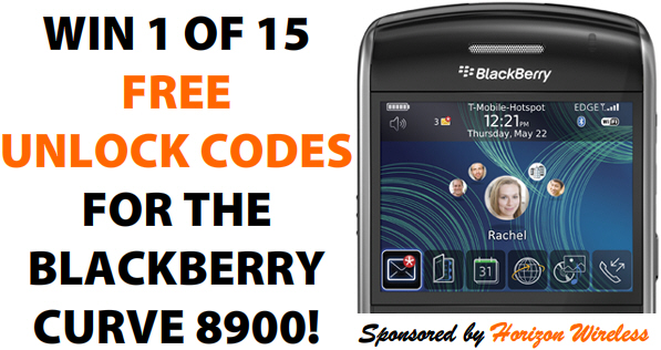 BlackBerry Curve 8900 Unlock Contest!