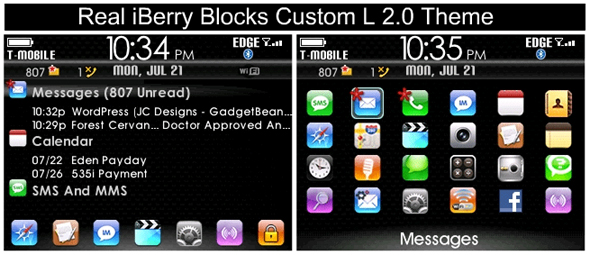 Real iBerry Blocks Custom L 2.0 Theme