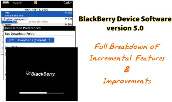 BlackBerry Device Software 5.0 Incremental Features Walkthrough