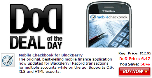 Mobile Checkbook for BlackBerry