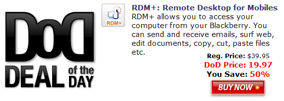 RDM+ for BlackBerry Smartphones