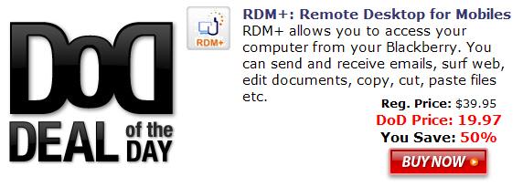 RDM+ for BlackBerry Smartphones