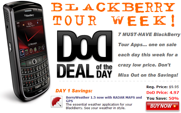 Deal of the Day: Tour Week!