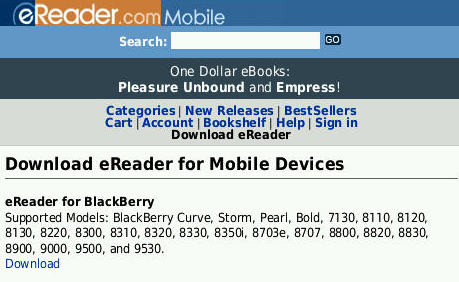 eReader Pro for BlackBerry