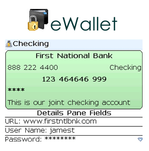 eWallet for BlackBerry