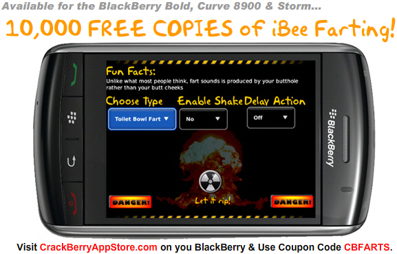10,000 Free Copies of iBee Farting!!!