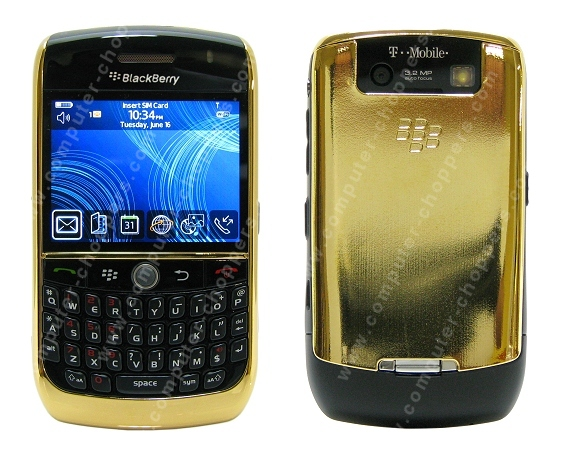 24kt Gold BlackBerry Curve 8900