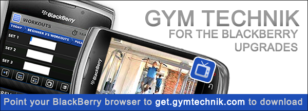 Gym Technik Fitness App for BlackBerry