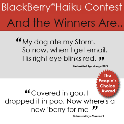 BlackBerry Haiku Contest Winners!
