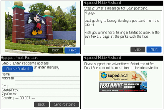 Hippopost for BlackBerry Smartphones - Send Postcards for Free!