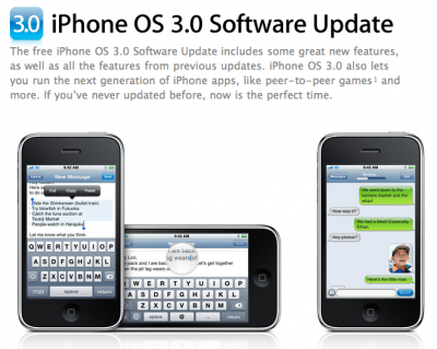 iPhone OS 3.0 Software Update Walk Through