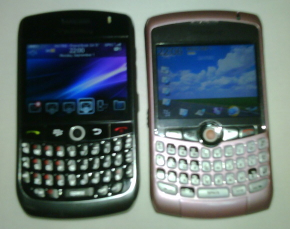 BlackBerry Javelin vs. BlackBerry Curve