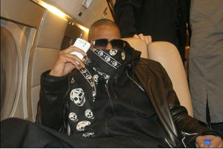 Jay Z with his White BlackBerry Curve