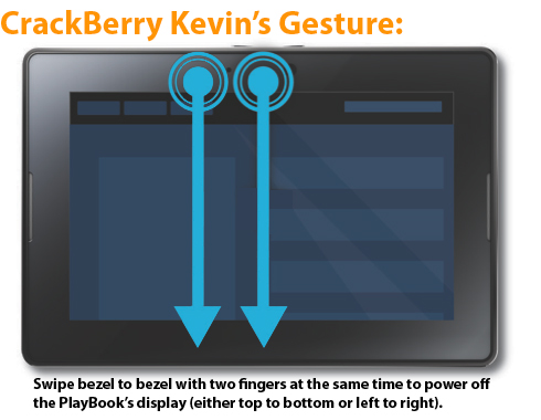 Much-Needed BlackBerry PlayBook Gesture