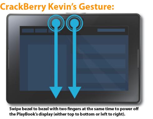 Much-Needed BlackBerry PlayBook Gesture