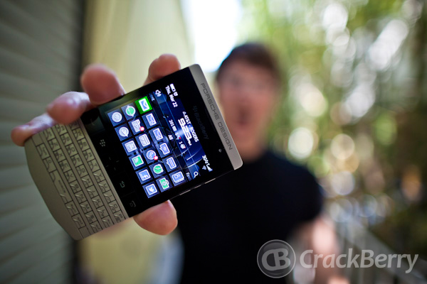 CrackBerry Kevin w/ his Porsche Design BlackBerry