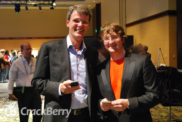 Thorsten Heins w/ CrackBerry Kevin
