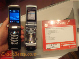 Side by Side: BlackBerry KickStart vs. Motorola KRZR K1