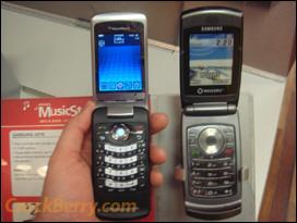 Side by Side: BlackBerry KickStart vs. Samsung A516
