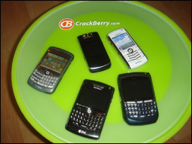 The KickStart fills a niche in the BlackBerry smartphone family - looks pretty good sitting closed among its siblings!