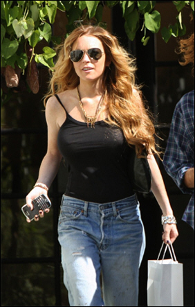Lindsay Lohan and her BlackBerry Bold