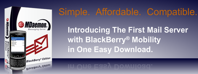 MDaemon Messaging Server - BlackBerry Edition