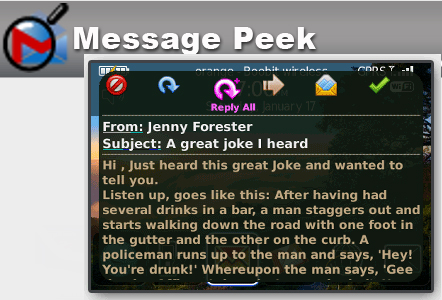 Message Peek for BlackBerry