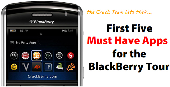 Must-Have Apps for the BlackBerry Tour