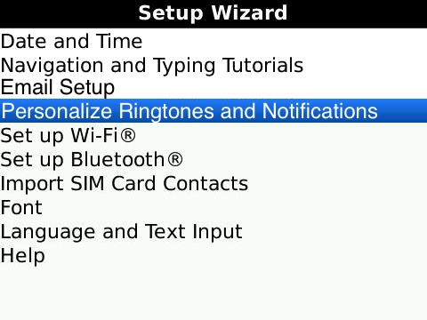 New Setup Wizard Option - Personalize Ringtones and Notifications