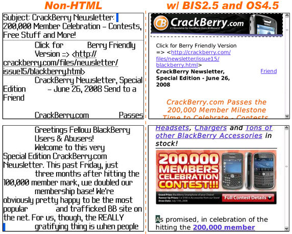 BIS 2.5 HTML Email Viewing on OS4.5