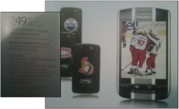 NHL BlackBerry Storm Coming to Bell