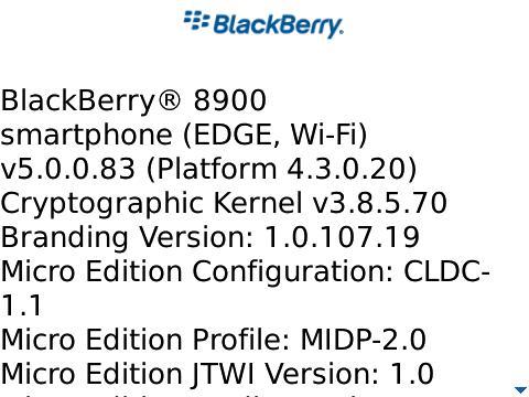 Sneak Peek: OS 5.0 on the BlackBerry Curve 8900