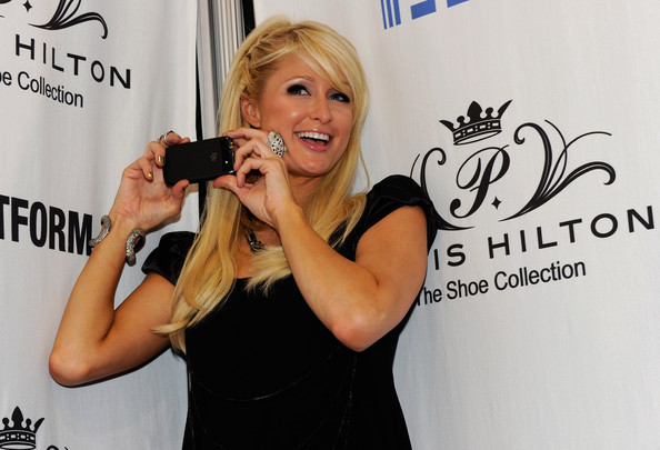 Paris Hilton with her BlackBerry Torch