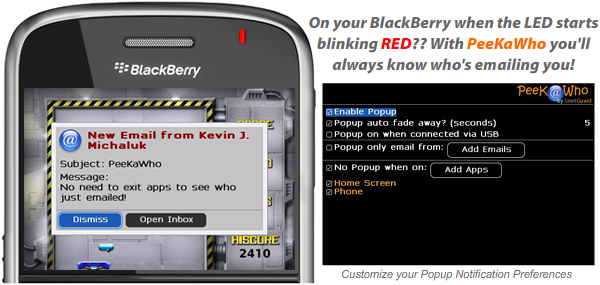 PeeKaWho for BlackBerry Smartphones