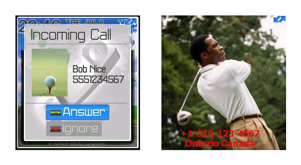 Full Screen Caller PictureID for BlackBerry