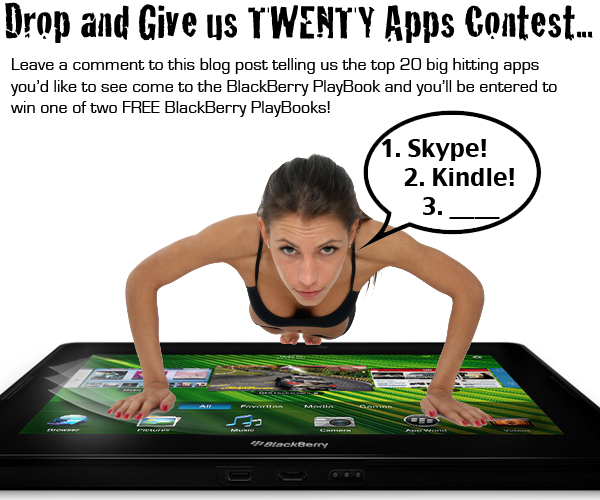 Drop and Give us TWENTY Apps Contest!