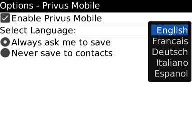 Privus for BlackBerry