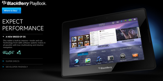 QNX + BlackBerry PlayBook
