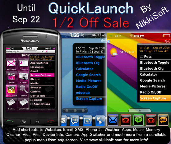 QuickLaunch 1/2 Off Sale