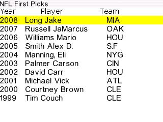 NFL First Picks