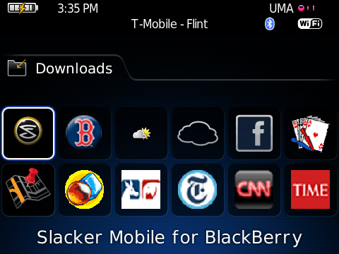Slacker Mobile for BlackBerry