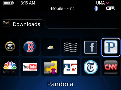 Pandora for BlackBerry
