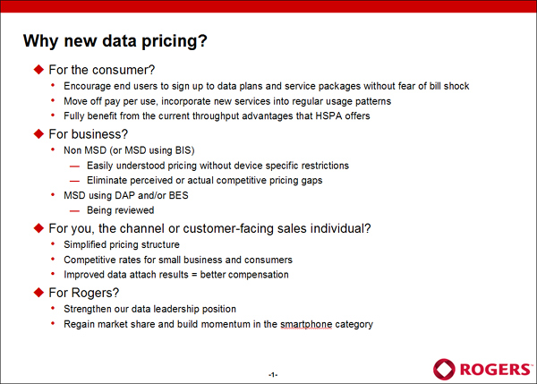 Rogers Data Pricing