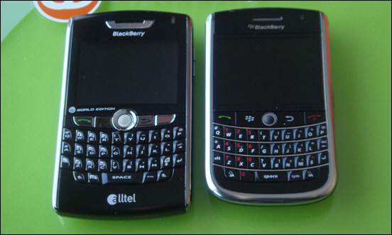 BlackBerry 8830 WE vs. 9630 WE