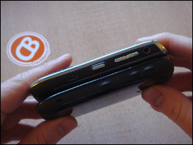 The BlackBerry Curve 8520's buttons are rubber coated